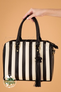 50s Viola Small Handbag in Black and White