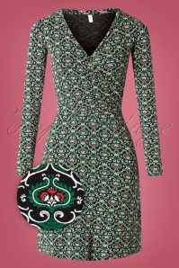 Blutsgeschwister 60s Emerald Palace Patio Dress in Black