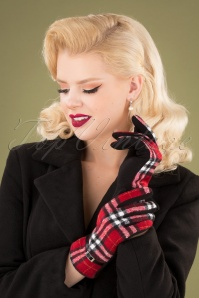 Darling Divine 31351 Gloves Red Black Checked 20190912 003W