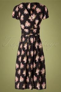 Sheen 30959 Kaya Dress Black Roses 180919 0001 W