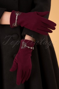 50s Elegant Gloves in Burgundy