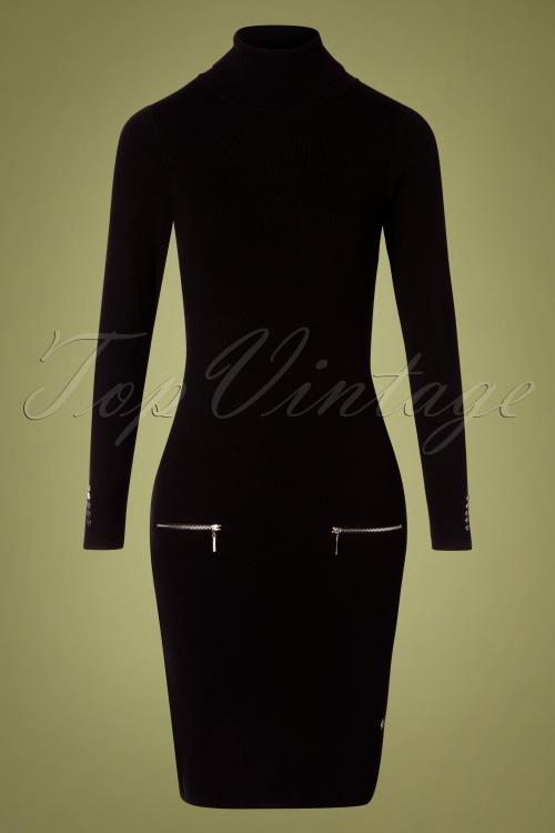 Smashed Lemon 30233 Knit Pencil Dress Black 190918 0003W