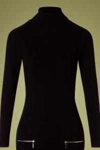 Smashed Lemon 30233 Knit Pencil Dress Black 190918 0003V
