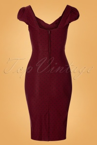 Stop Staring 31092 Billion Dollar Pencil Dress Burgundy Black Polka Dot 190918 0007W
