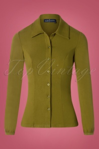60s Ginny Blouse in Olive