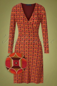 Bakery Ladies 60s Mabs Wrap Dress in Port