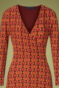 Bakery Ladies 29136 Dress V Neck Red 190918 0002V
