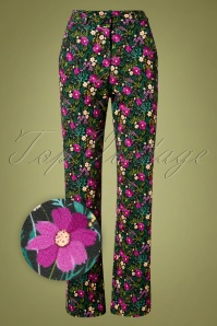 60s Babs Baggy Trousers in Meadow Multi