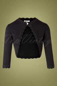 Belsira 32218 Cardigan Black Knitted 09192019 002W