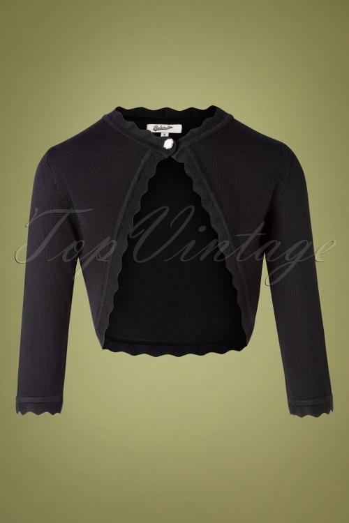 Belsira 32218 Cardigan Black Knitted 09192019 002W
