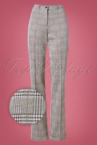 Wow To Go! 60s Paleis Trousers in Glen Check