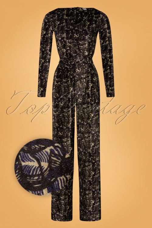 Wow to Go 30010 Jumpsuit Tanzania Swan Navy 180919 0003Z