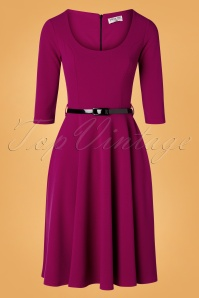 Vintage Chic for TopVintage 50s Juliana Swing Dress in Amaranth