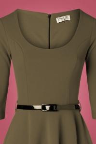 Vintage Chic 31429 Swingdress Olive 09192019 002V
