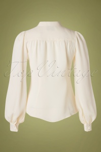 Seamstress Of Bloom 32291 Blouse Eva White Ribbon 09192019 007W