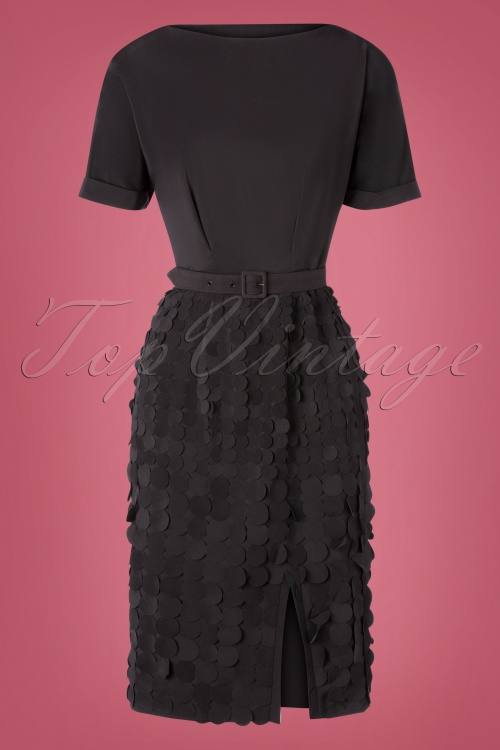 Miss Candyfloss 31008 Pencildress Black Dot 07112019 000005W