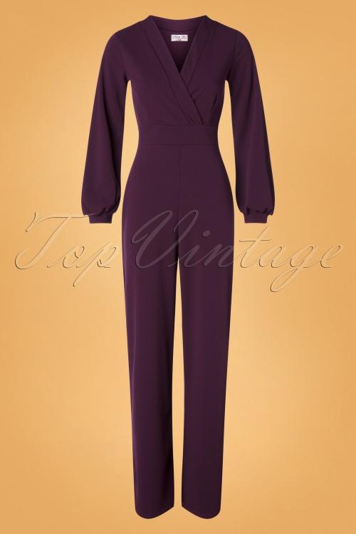 Vintage Chic 31147 Jumpsuit Aubergine 09192019 001W