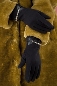 50s Elegant Gloves in Dark Blue