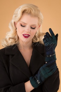 Darling Divine 31352 Gloves Blue Green Checked 20190912 002W