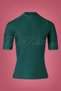 Md'M 60s Alvena Sweater in Petrol Green