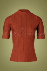 Md'M 60s Alvena Sweater in Burnt Orange