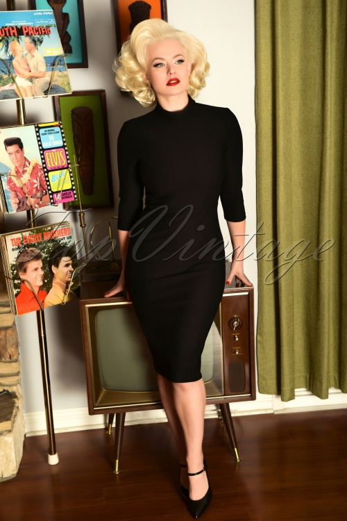 Glamour Bunny 29290 Secretary Pencil Dress in Black 20190408 7230 AmendW