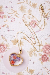 Louche 30058 Necklace Bani Heart Glas Flowers 09232019 009W