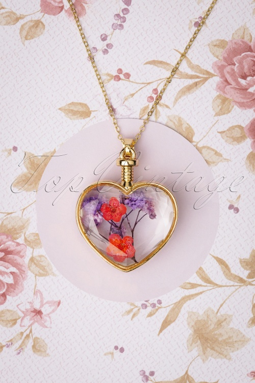 Louche 30058 Necklace Bani Heart Glas Flowers 09232019 004W