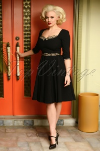 50s Harley Swing Dress in Black