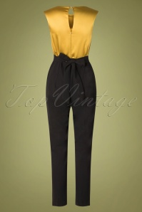 Closet 32043 Jumpsuit in mustard and black 20190923 010W