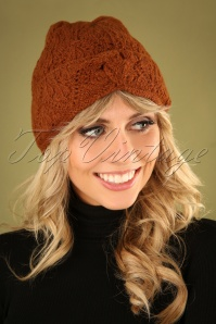 70s Moritz Hat in Brunette Brown