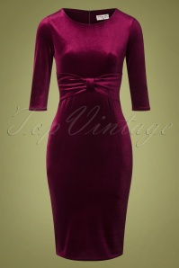 Vintage Chic 31531 Velvet Pencil Dress 20190923 002W