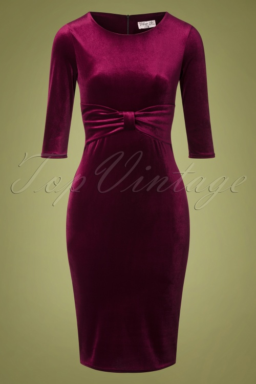 Vintage Chic 31531 Velvet Pencil Dress 20190923 002W