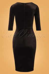 Vintage Chic 31805 Velvet Pencil Dress Black 20190923 006W