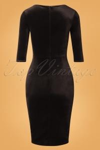 Vintage Chic 31805 Velvet Pencil Dress Black 20190923 006W