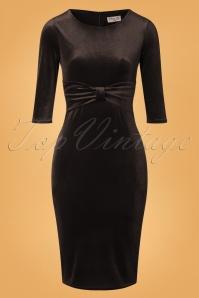 Vintage Chic 31805 Velvet Pencil Dress Black 20190923 002W