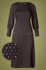 60s Janie Sprinkles Dress in Black