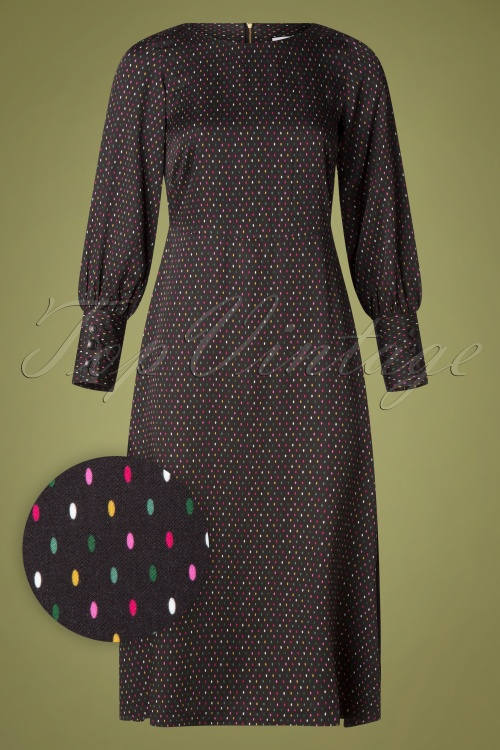 Closet 32040 Pencil Dress with multicolored dots 20190923 003W1
