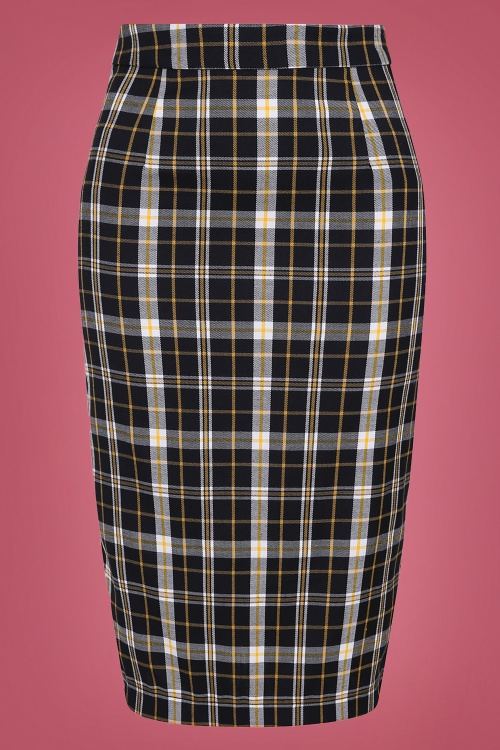 Collectif 29880 Polly Geek Check Pencil Skirt 20190430 021L W