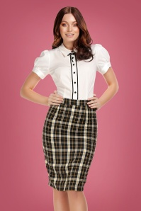 Collectif 29880 Polly Geek Check Pencil Skirt 20190430 020L W
