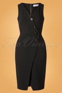Closet 32045 Pencil Dress in Black 20190923 002W