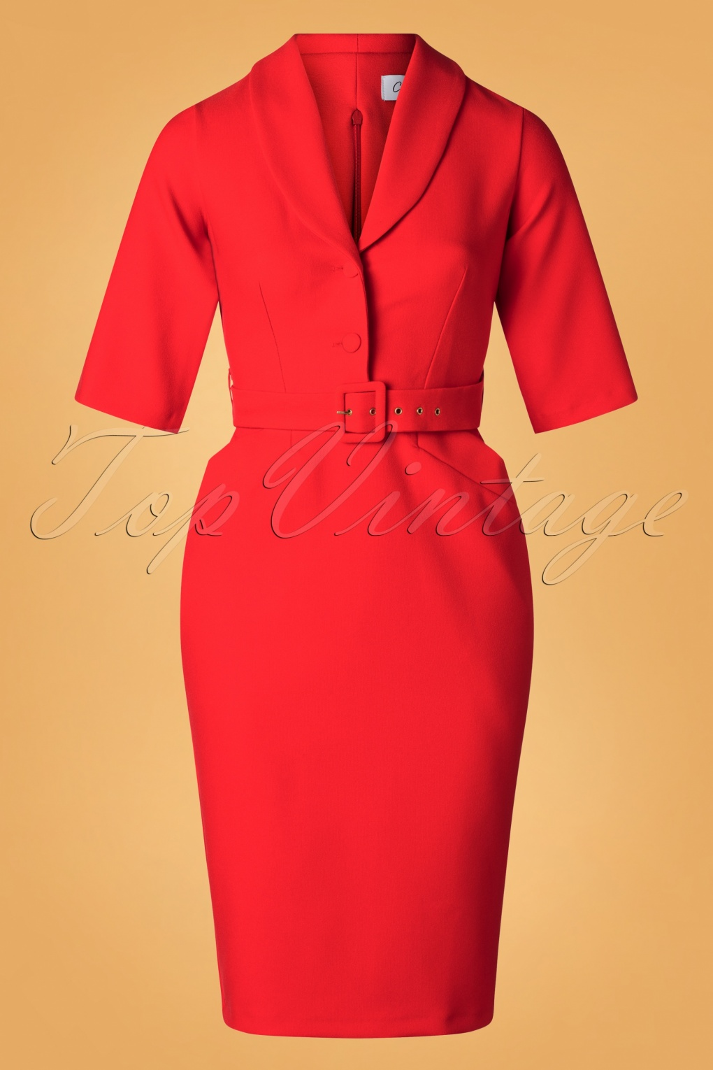 1960s Style Dresses, Clothing, Shoes UK 60s Sherri Pencil Dress in Bright Red £71.19 AT vintagedancer.com