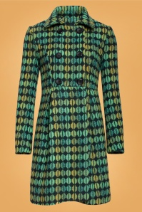 60s Immy Print Coat in Green