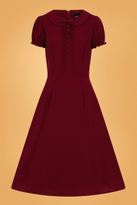 Collectif 29850 Giannina Swing Dress in Burgundy 20190917 020L copy