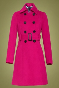60s Fallon Coat in Fuchsia