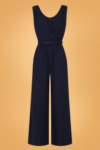 Collectif 29928 Charline Jumpsuit Navy 20190430 021LW