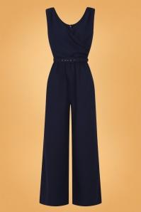 Collectif 29928 Charline Jumpsuit Navy 20190430 021LW