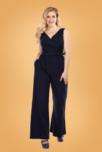 Collectif 29928 Charline Jumpsuit Navy 20190430 020LW