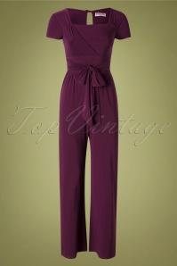 Vintage Chic 32014 Jumpsuit Aubergine 50s 09192019 002 W