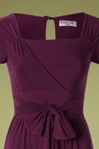 Vintage Chic 32014 Jumpsuit Aubergine 50s 09192019 002 V